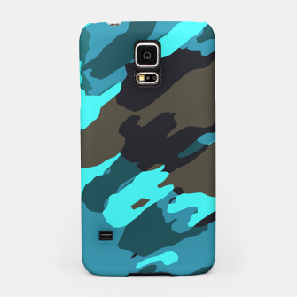 camouflage splash painting abstract in green brown blue Samsung Case thumbnail image