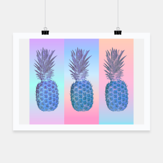 Thumbnail image of Triple Pastel Pineapple Poster, Live Heroes