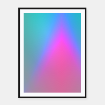 Thumbnail image of Vibrant gradient Framed poster, Live Heroes