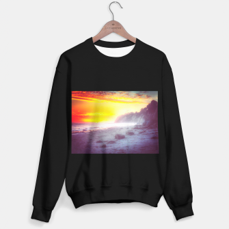 Thumbnail image of California summer beach sunset with beautiful cloudy sky Sweater regular, Live Heroes