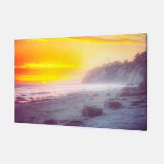 Thumbnail image of California summer beach sunset with beautiful cloudy sky Canvas, Live Heroes