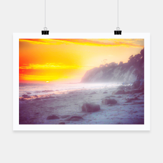 Thumbnail image of California summer beach sunset with beautiful cloudy sky Poster, Live Heroes