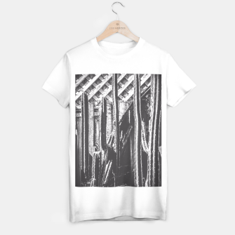Thumbnail image of cactus with wooden fence in black and white T-shirt regular, Live Heroes