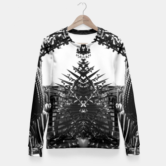 Thumbnail image of Garden Majorelle Marrakech Black and White Fitted Waist Sweater, Live Heroes