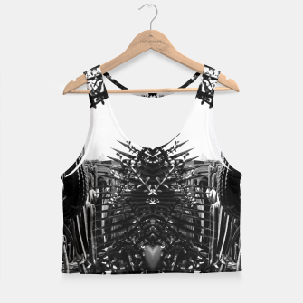Thumbnail image of Garden Majorelle Marrakech Black and White Crop Top, Live Heroes