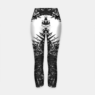 Thumbnail image of Garden Majorelle Marrakech Black and White Yoga Pants, Live Heroes
