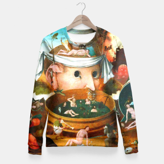 Thumbnail image of The Vision of Tondal-Hieronymus Bosch Fitted Waist Sweater, Live Heroes