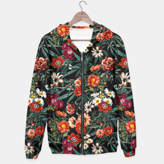 Thumbnail image of Marijuana and Floral Pattern Hoodie, Live Heroes