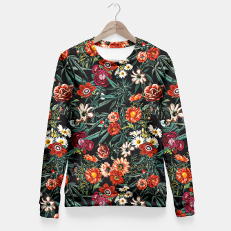 Thumbnail image of Marijuana and Floral Pattern Fitted Waist Sweater, Live Heroes