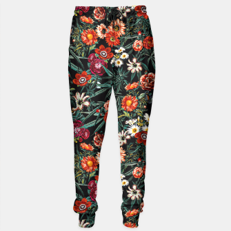 Thumbnail image of Marijuana and Floral Pattern Sweatpants, Live Heroes