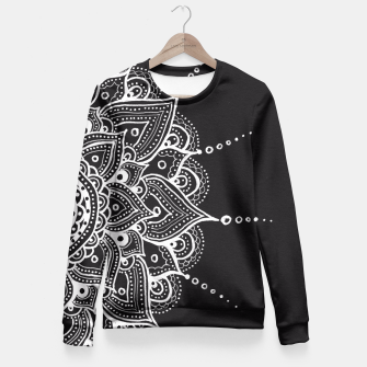 Thumbnail image of White mandala Fitted Waist Sweater, Live Heroes