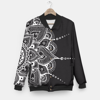 Thumbnail image of White mandala Baseball Jacket, Live Heroes