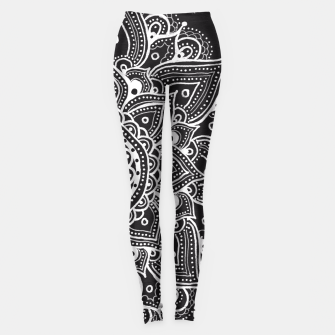 Thumbnail image of White mandala Leggings, Live Heroes