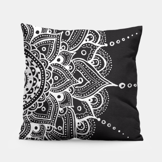 Thumbnail image of White mandala Pillow, Live Heroes