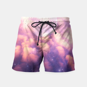 Thumbnail image of Space Clouds Swim Shorts, Live Heroes