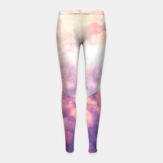 Thumbnail image of Space Clouds Girl's Leggings, Live Heroes