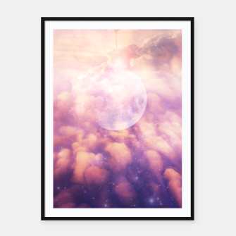 Thumbnail image of Space Clouds Framed poster, Live Heroes