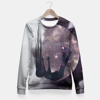 Thumbnail image of Falling from space Fitted Waist Sweater, Live Heroes