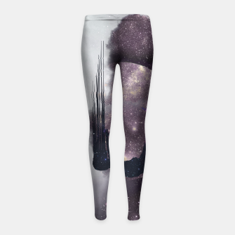 Thumbnail image of Falling from space Girl's Leggings, Live Heroes
