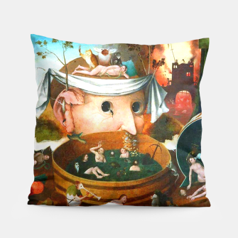 Thumbnail image of The Vision of Tondal-Hieronymus Bosch Pillow, Live Heroes