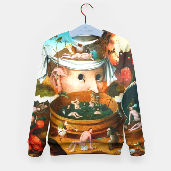 Thumbnail image of The Vision of Tondal-Hieronymus Bosch Kid's Sweater, Live Heroes