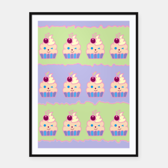 Thumbnail image of Cupcake Pattern Framed poster, Live Heroes