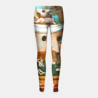 Thumbnail image of The Vision of Tondal-Hieronymus Bosch Girl's Leggings, Live Heroes