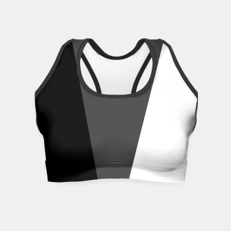 Thumbnail image of black gray and white Crop top, Live Heroes