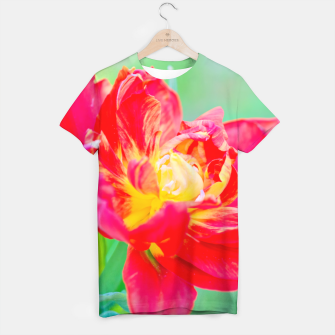 Thumbnail image of Unusual macro tulip over green background T-shirt, Live Heroes