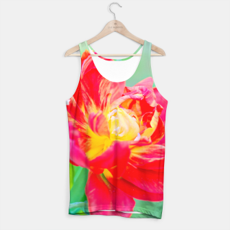Thumbnail image of Unusual macro tulip over green background Tank Top, Live Heroes