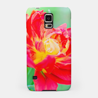 Thumbnail image of Unusual macro tulip over green background Samsung Case, Live Heroes