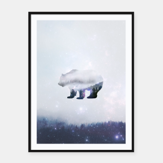 Thumbnail image of Space Bear Framed poster, Live Heroes