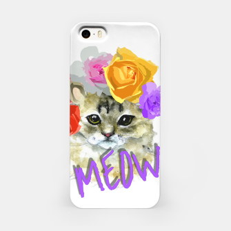 Thumbnail image of Cute Kitty Cat Meow Floral Graphic iPhone Case, Live Heroes