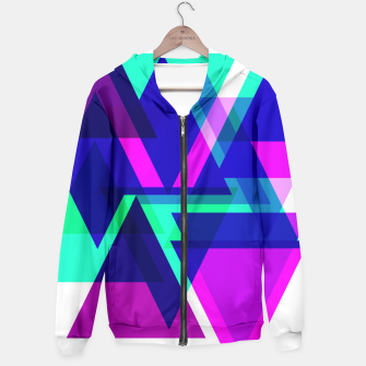 Thumbnail image of Geometric Angular Modern Abstract Patterned Hoodie, Live Heroes