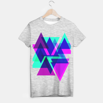 Thumbnail image of Geometric Angular Modern Abstract Patterned T-shirt regular, Live Heroes