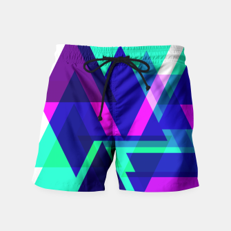 Thumbnail image of Geometric Angular Modern Abstract Patterned Swim Shorts, Live Heroes