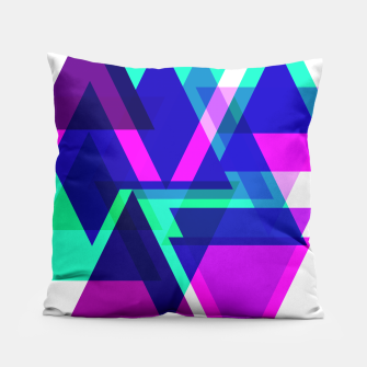 Thumbnail image of Geometric Angular Modern Abstract Patterned Pillow, Live Heroes