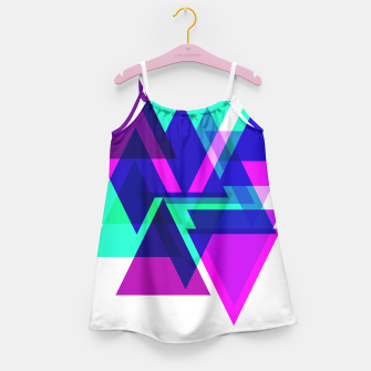 Thumbnail image of Geometric Angular Modern Abstract Patterned Girl's Dress, Live Heroes