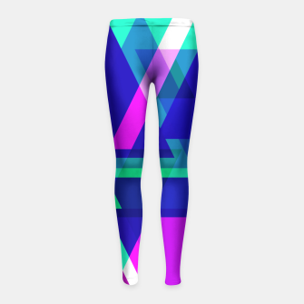 Thumbnail image of Geometric Angular Modern Abstract Patterned Girl's Leggings, Live Heroes