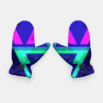 Thumbnail image of Geometric Angular Modern Abstract Patterned Gloves, Live Heroes