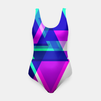 Thumbnail image of Geometric Angular Modern Abstract Patterned Swimsuit, Live Heroes