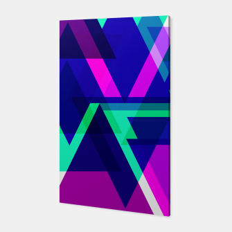 Thumbnail image of Geometric Angular Modern Abstract Patterned Canvas, Live Heroes