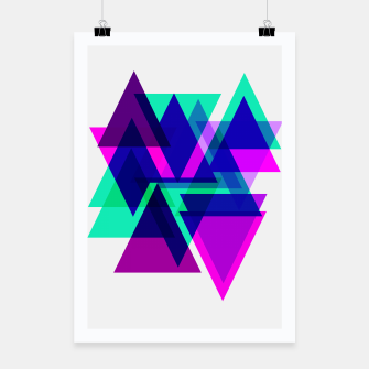 Thumbnail image of Geometric Angular Modern Abstract Patterned Poster, Live Heroes