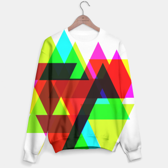 Thumbnail image of Geometric Angular Modern Abstract Patterned Sweater, Live Heroes