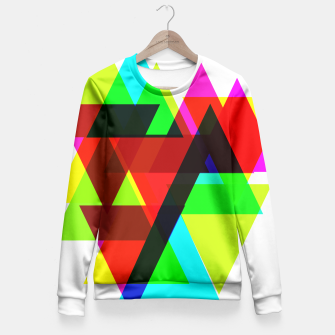 Thumbnail image of Geometric Angular Modern Abstract Patterned Fitted Waist Sweater, Live Heroes