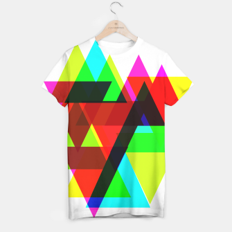 Thumbnail image of Geometric Angular Modern Abstract Patterned T-shirt, Live Heroes