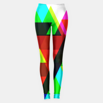 Thumbnail image of Geometric Angular Modern Abstract Patterned Leggings, Live Heroes