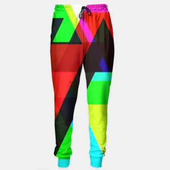 Thumbnail image of Geometric Angular Modern Abstract Patterned Sweatpants, Live Heroes