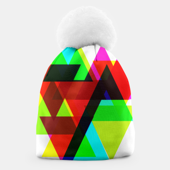 Thumbnail image of Geometric Angular Modern Abstract Patterned Beanie, Live Heroes