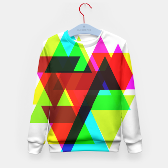 Thumbnail image of Geometric Angular Modern Abstract Patterned Kid's Sweater, Live Heroes